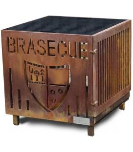 Le Brasecue 017 en Corten, feu de camp, matière tendance